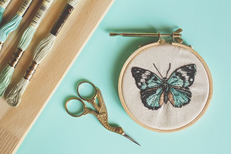bordado borboleta